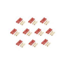 Konektor zlacený 4.0mm s plastovým krytem (5 párů) - 1