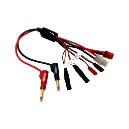 Nabíjecí kabel s banánky - Tam,Dns,JST,Rx,Tx - 1