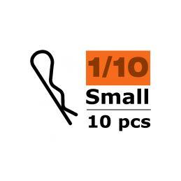 Sponka karosérie malá 45° černá (10) - 1