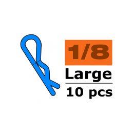 Sponka karosérie velká 45° černá (10) - 1