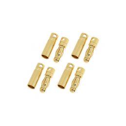 Konektor zlacený 4.0mm krátký (4 páry) - 1