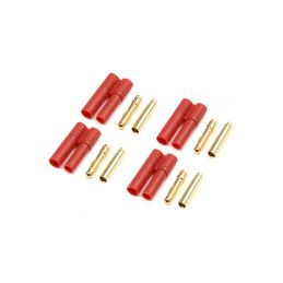 Konektor zlacený 4.0mm plastové pouzdro (4) - 1