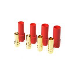 Konektor zlacený XT-150 červený (2 páry) - 1