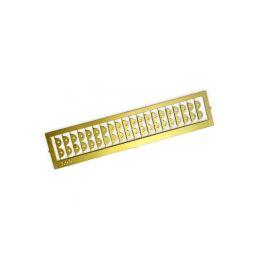 Krick Spojovací desky leptaná mosaz 8mm (20) - 1