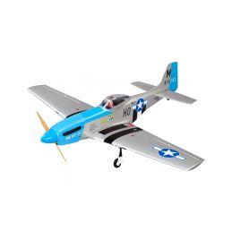 P-51D Mustang 20cc 1.7m ARF modrý - 1