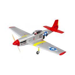 P-51D Mustang 20cc 1.7m ARF červený - 1