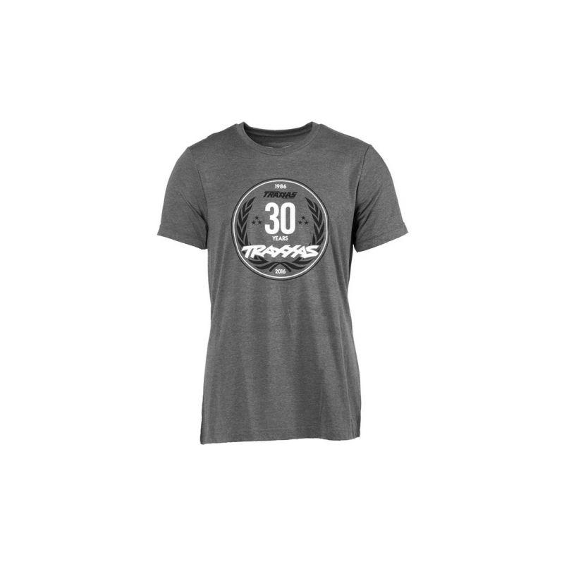 Traxxas tričko výročí 30 let šedé XL - 1