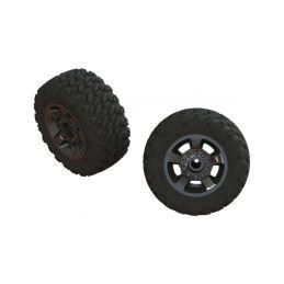 Arrma kolo s pneu dBoots Ragnarok Mt, černý chrom (2) - 1