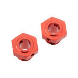 Arrma náboj kola 17mm/13.6mm hliník červený (2) - 1
