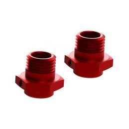 Arrma náboj kola 17mm/16.5mm hliník červený (2) - 1