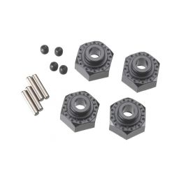 Axial hliníkový naboj kola 12mm černý (4) - 1