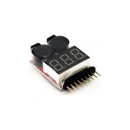 Dynamite tester LiPol baterií s alarmem - 1