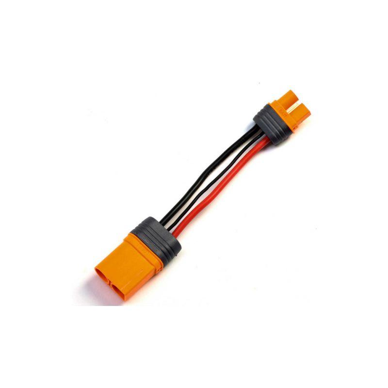 Spektrum konverzní kabel IC5 přístroj - IC3 baterie 10cm 10 AWG - 1