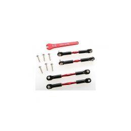 Traxxas hliníkové ojničky 39/49 mm červené (2+2) - 1