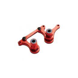 Traxxas hliníkové páky řízení červené - 1