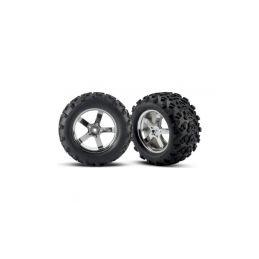 """Traxxas kolo 3.8"""", disk Hurricane stříbrný, pneu Maxx (2) - 1"""