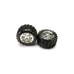 "Traxxas kolo 3.8"", disk Split Spoke H14 stříbrný, pneu Talon (pár) - 1"