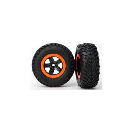 """Traxxas kolo 2.2/3.0"""", disk SCT černo-oranžový, pneu SCT (2) (2WD přední) - 1"""