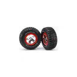 """Traxxas kolo 2.2/3.0"""", disk SCT stříbrný-červený, pneu KM2 (2) - 1"""