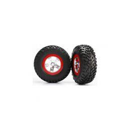 "Traxxas kolo 2.2/3.0"", disk SCT saténový-červený, pneu SCT S1 (2) - 1"