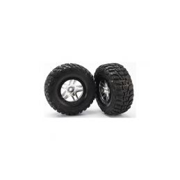"""Traxxas kolo 2.2/3.0"""", disk SCT Split-Spoke saténový-černý, pneu Kumho (2) (2WD přední) - 1"""