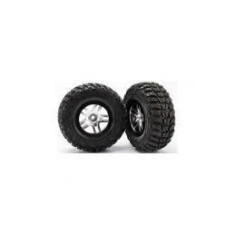 """Traxxas kolo 2.2/3.0"""", disk SCT Split-Spoke saténový-černý, pneu Kumho S1 (2) (2WD přední) - 1"""