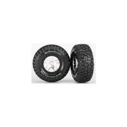 """Traxxas kolo 2.2/3.0"""", disk SCT Split-Spoke saténový-černý, pneu KM2 S1 (2) - 1"""