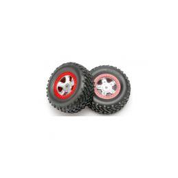 "Traxxas kolo 1.4/1.8"", disk SCT saténový-červený, pneu SCT (2) - 1"