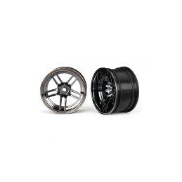 """Traxxas disk 1.9"""" split-spoke černý chrom (2) (zadní) - 1"""
