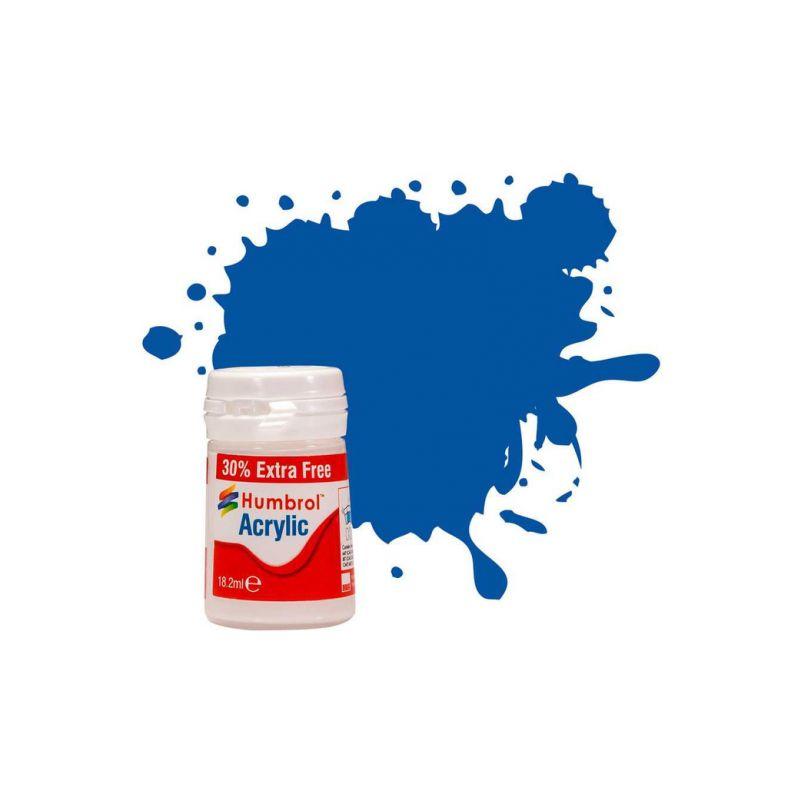 Humbrol akrylová barva #14 francouzská modrá lesklá 18ml - 1
