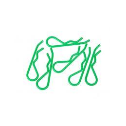 Sponky pro karoserie pro 1/8 - fluorescentní zelená (6ks.) - 1