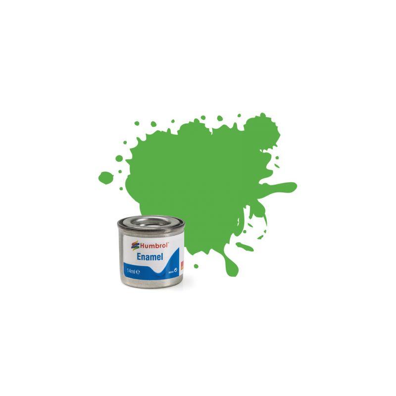 Humbrol emailová barva #37 zářivá zelená matná 14ml - 1