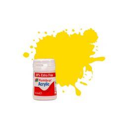 Humbrol akrylová barva #69 žlutá lesklá 18ml - 1