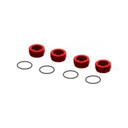 Arrma matice předního náboje červená, hliník (4) - 1