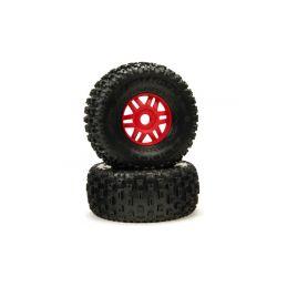 Arrma kolo s pneu dBoots Fortress černé (pár) - 1