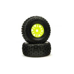 Arrma kolo s pneu dBoots Fortress zelené (pár) - 1