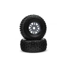 Arrma kolo s pneu dBoots Fortress metal (pár) - 1