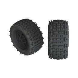 Arrma kolo s pneu Backflip 4S černá (2) - 1