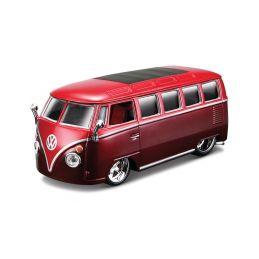Bburago Plus Volkswagen Van Samba 1:32 červená - 1