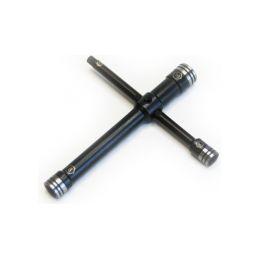 Klíč křížový 4-cestný 5-hex/7/8/10mm ocel - 1