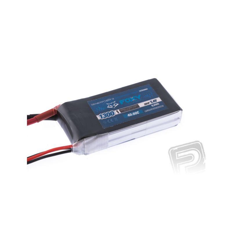 FOXY G3 - Li-Po 1300mAh/7,4V 40/80C 9,6Wh - 1
