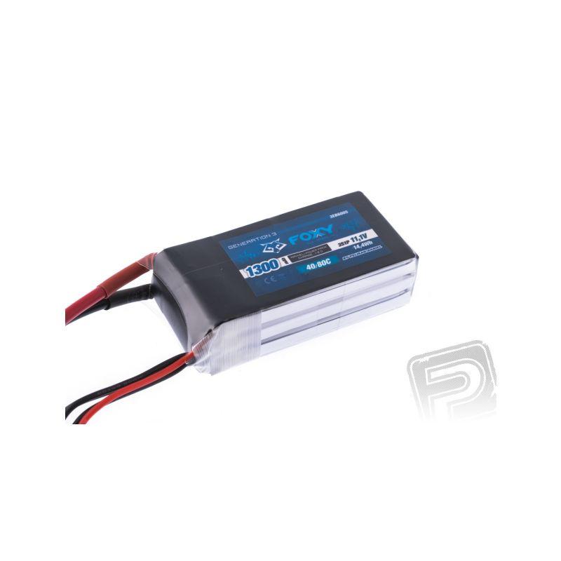 FOXY G3 - Li-Po 1300mAh/11,1V 40/80C 14,4Wh - 1