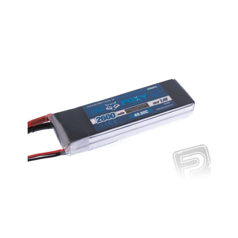 FOXY G3 - Li-Po 2600mAh/7,4V 40/80C 19,2Wh - 1