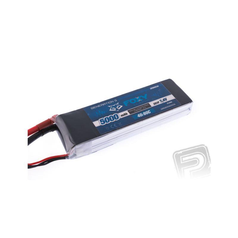 FOXY G3 - Li-Po 5000mAh/7,4V 40/80C 37,0Wh - 1