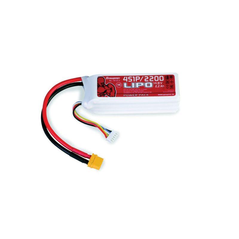 POWER PACK Li-Pol 2200mAh/14,8V 70C s XT60 konektorem - 1