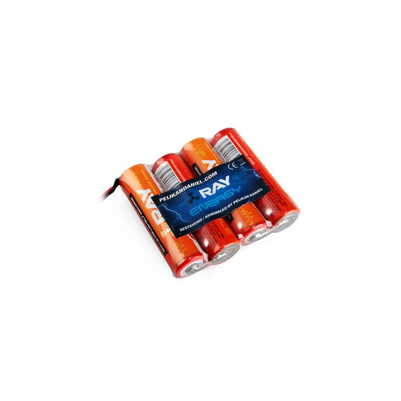 4.8V 2000AA Long RAY Tx (Flash 7, LYNX 4S, T6K, T10J, T3PV) 4čl. plochý - 1
