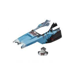 Lakovaná karoserie včetně nálepek, modrá, Raider 2014 Mega - 1
