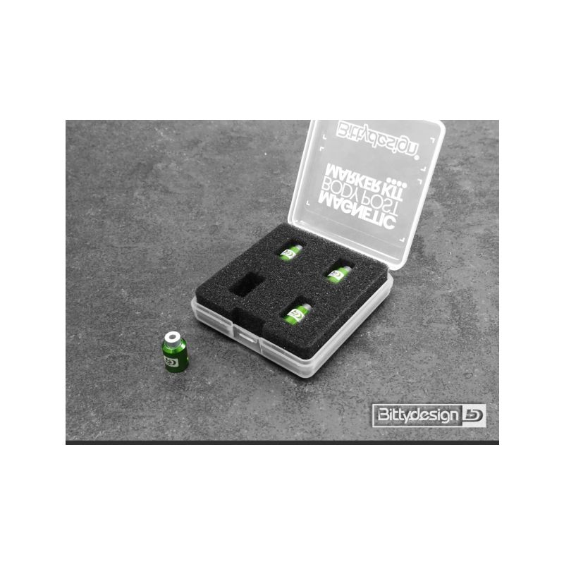Označovací sada pro 1/10 karoserie - zelená - 1