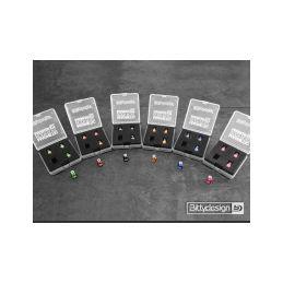 Označovací sada pro 1/10 karoserie - fialová - 2