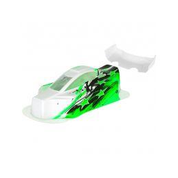 BX10 Bitty design lakovaná lexanová karoserie včetně křídla, zelená - 1